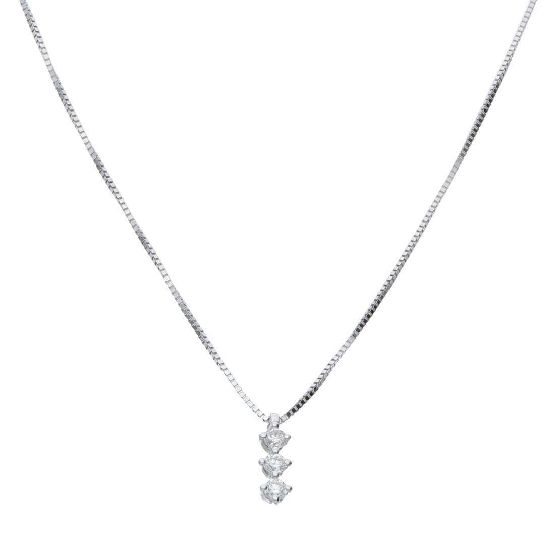 Collana in oro bianco con diamanti ct. 0,09 - BLISS
