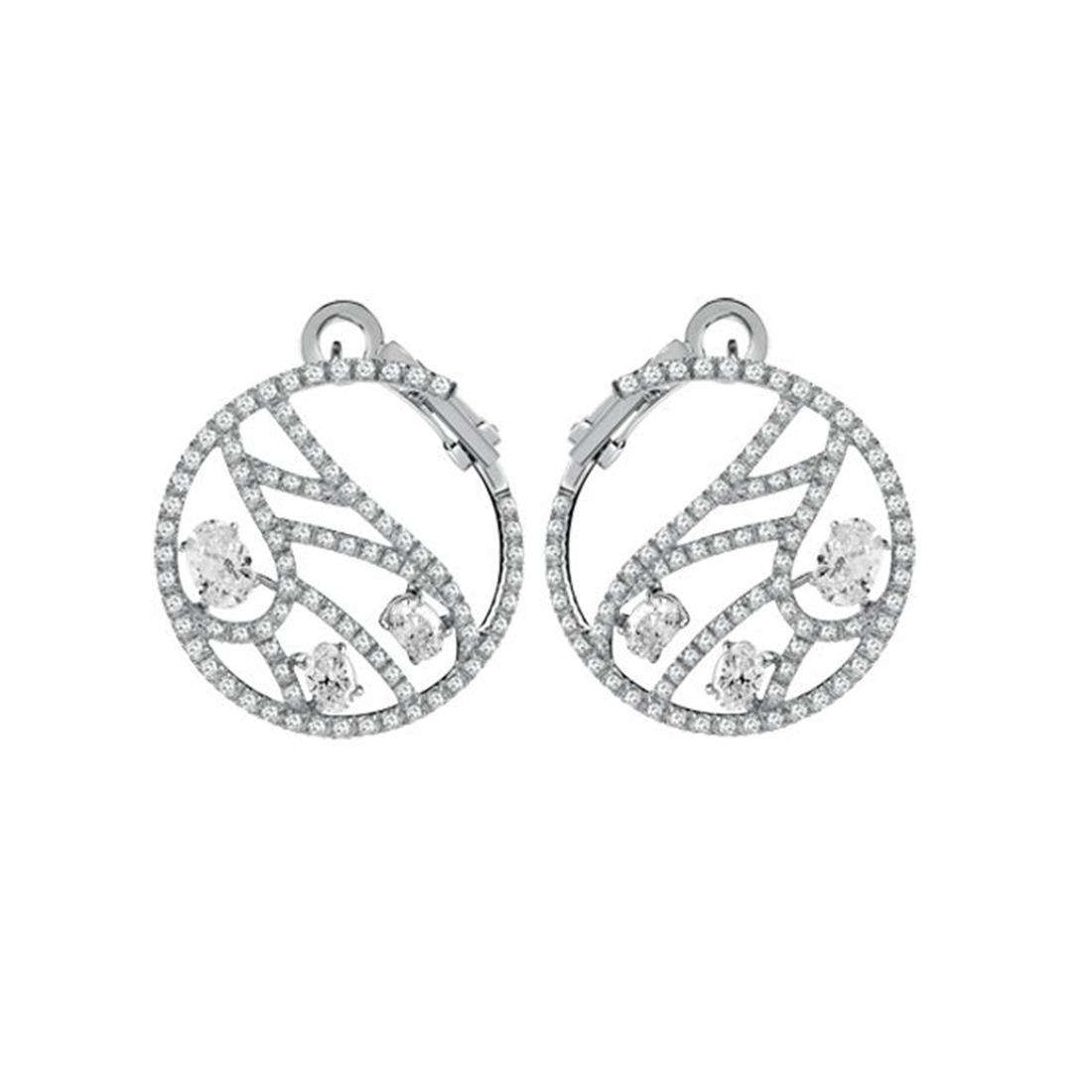 Orecchini in oro bianco con diamanti - DAMIANI