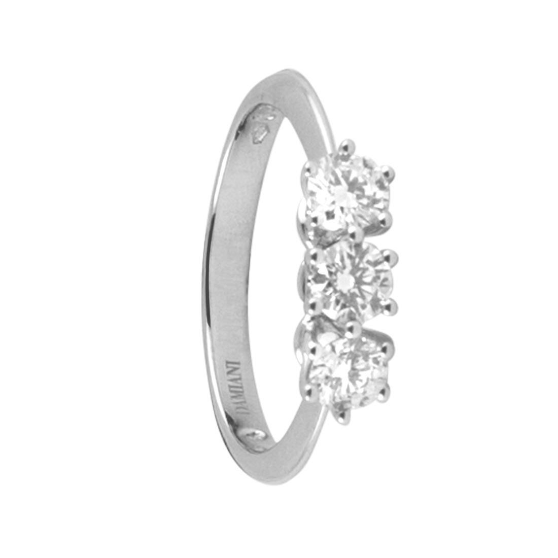 Anello trilogy in oro bianco con diamanti mis 13 - DAMIANI