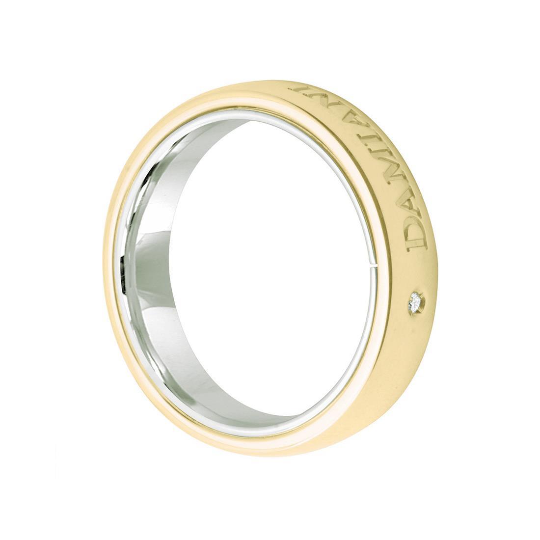 Anello design in oro bianco e giallo - DAMIANI