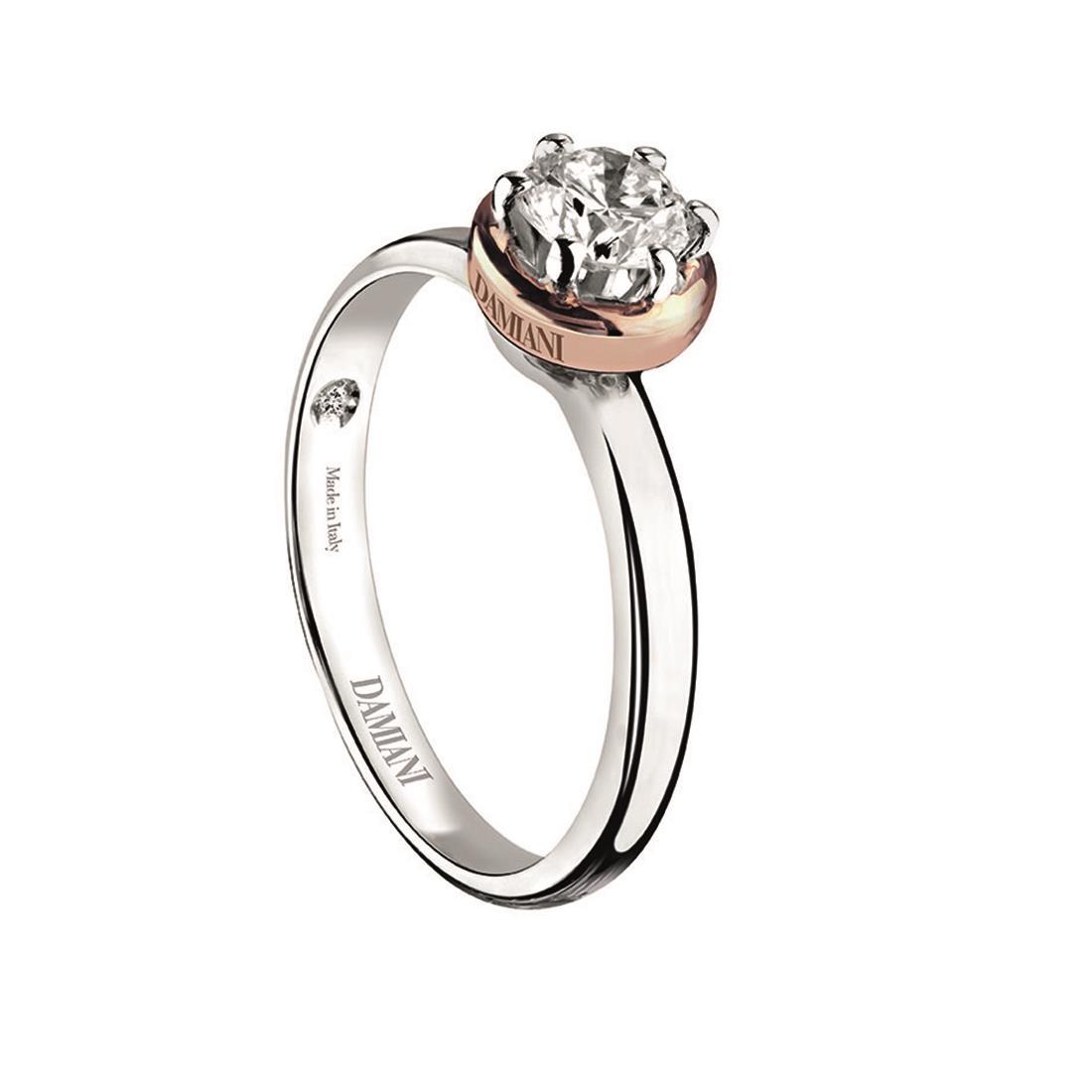 Anello in oro bianco con diamante ct. 0,16 - DAMIANI