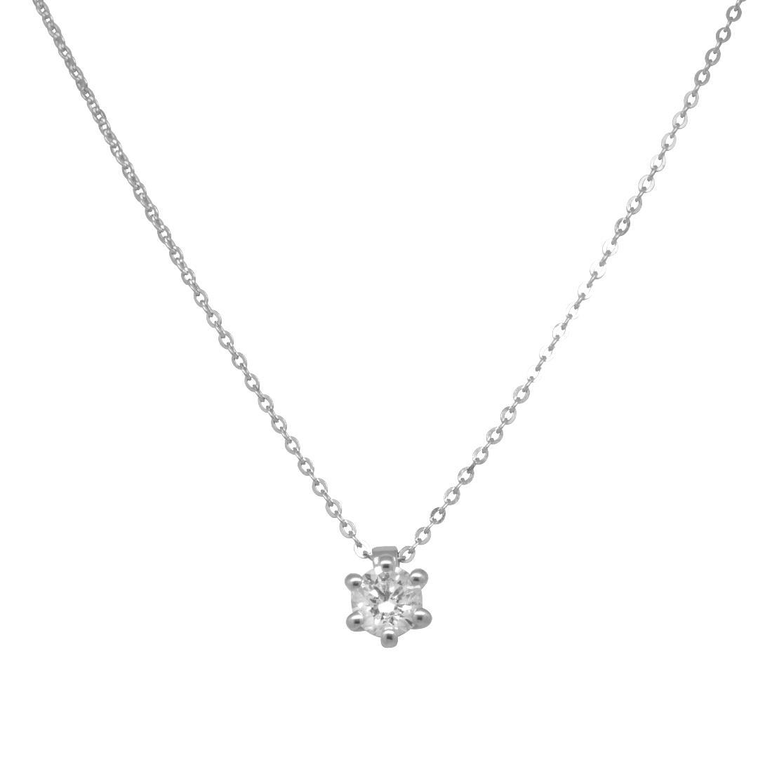 Collana in oro bianco con diamanti  - DAMIANI