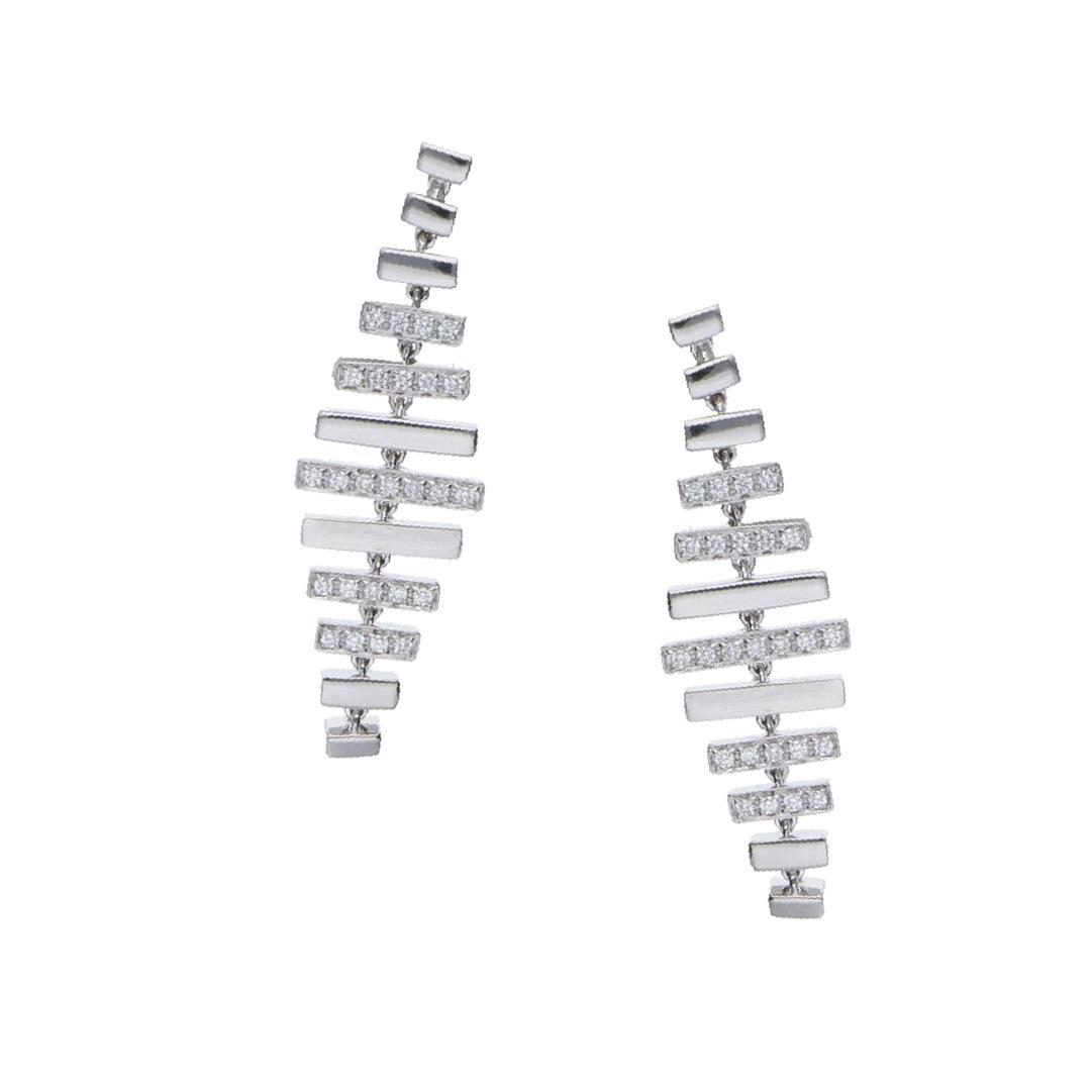 Orecchini pendenti con diamanti ct. 0,30 - ALFIERI & ST. JOHN