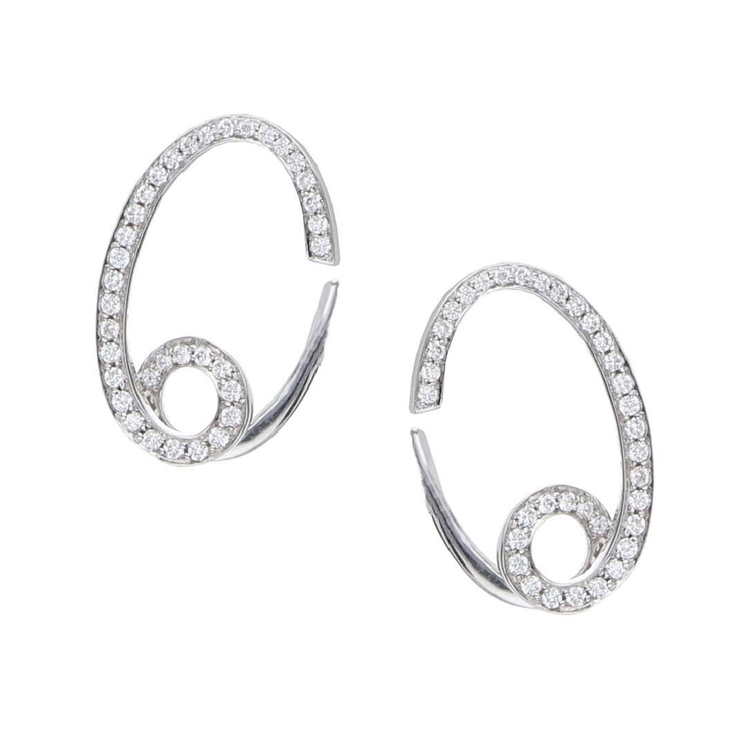 Orecchini in oro bianco con diamanti ct. 0,51 - ALFIERI & ST. JOHN