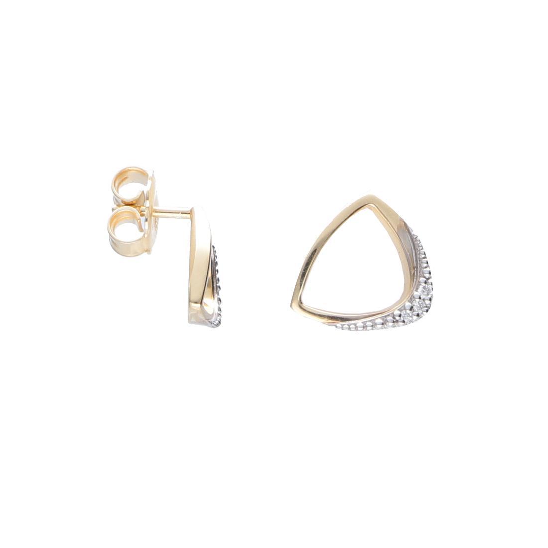 Orecchini in oro giallo con diamanti  - ALFIERI & ST. JOHN