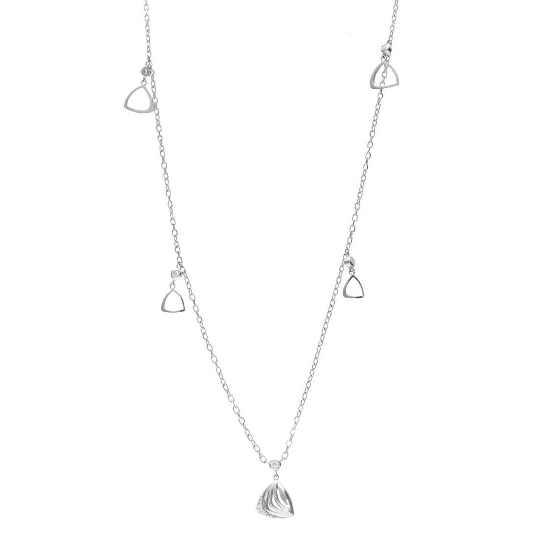 Collana in oro bianco con diamanti - ALFIERI & ST. JOHN