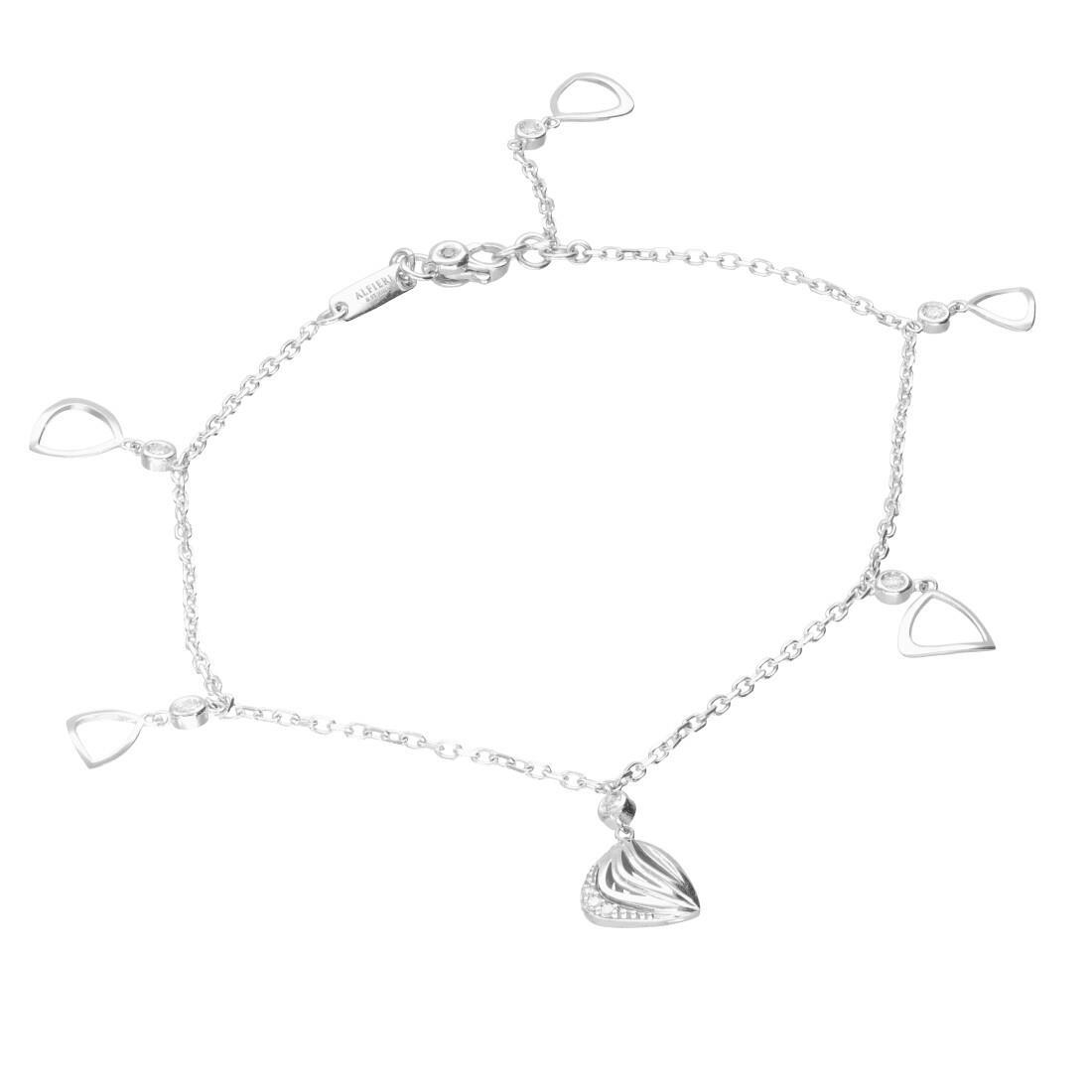 Bracciale in oro bianco con diamanti ct. 0,08 - ALFIERI & ST. JOHN