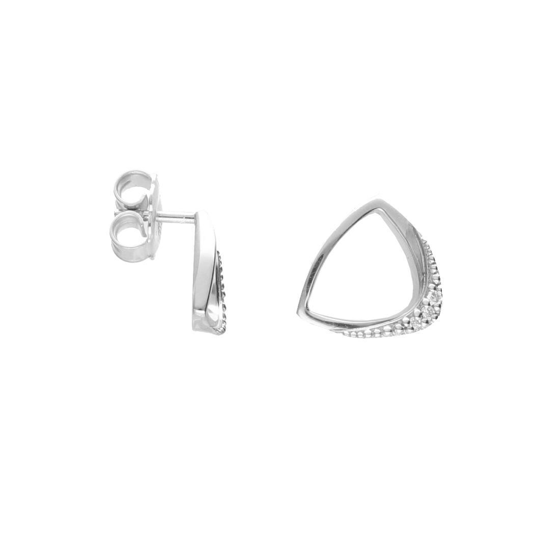Orecchini in oro bianco con pavè di diamanti - ALFIERI & ST. JOHN
