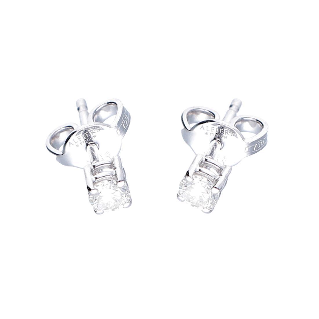 Orecchini punto luce con diamanti 0.40 ct - ALFIERI & ST. JOHN