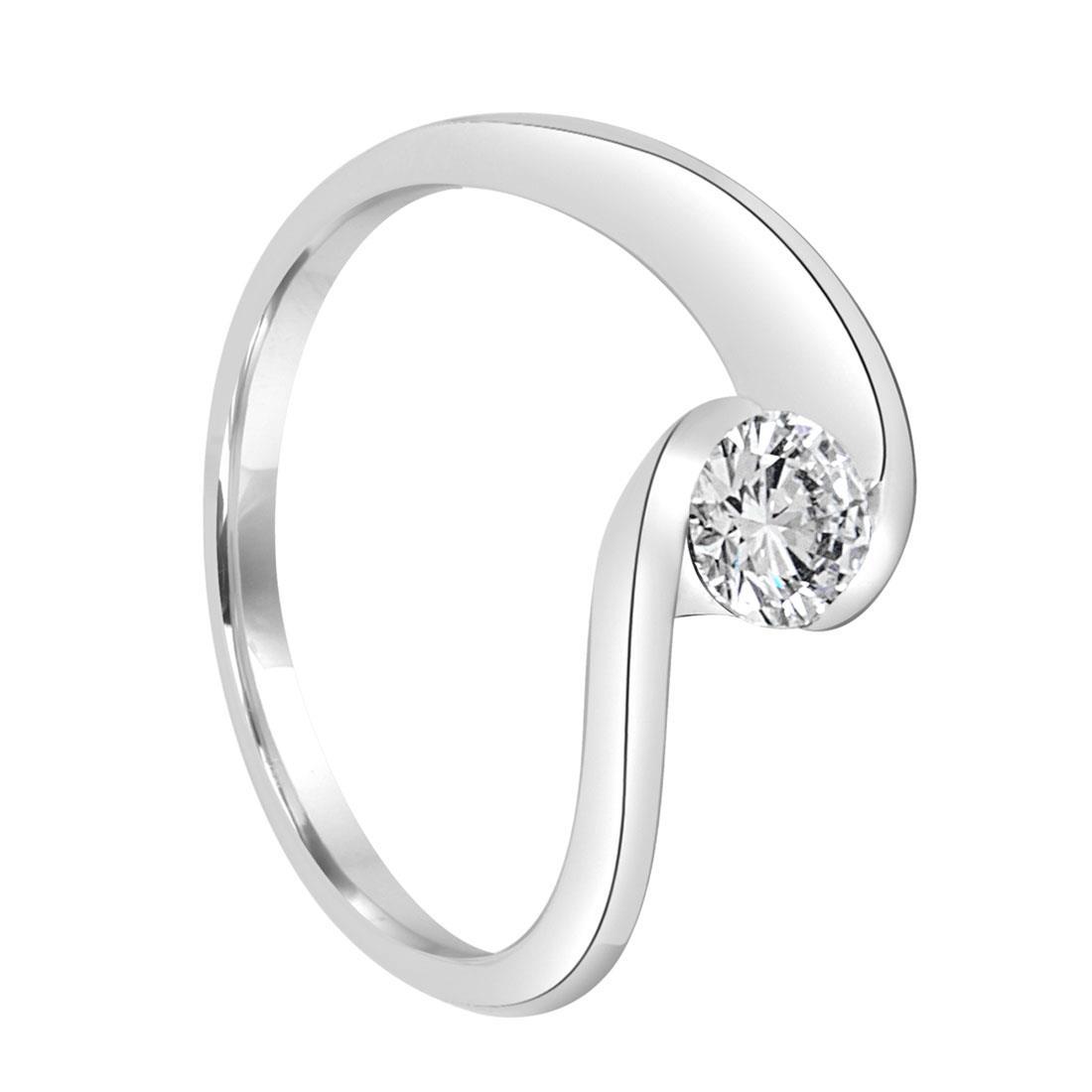 Anello solitario con diamante ct. 0,40 - ALFIERI & ST. JOHN