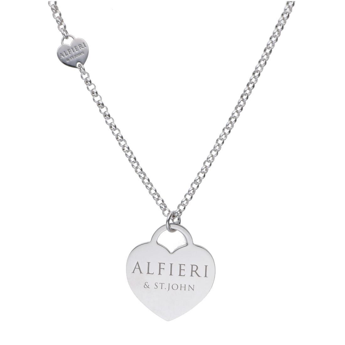 Collana lunga in argento con cuori - ALFIERI & ST. JOHN 925