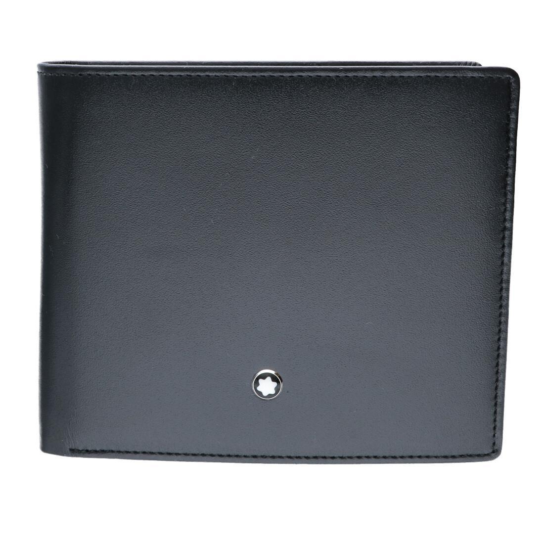 Portafoglio orrizontale con portamonete, 2 scomparti banconote - MONTBLANC