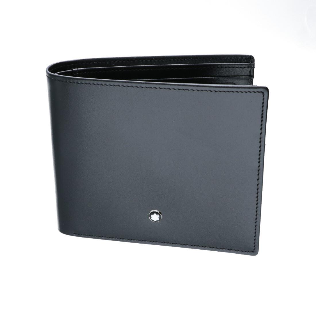 Portafoglio 11 scomparti per carte di credito in pelle nera - MONTBLANC