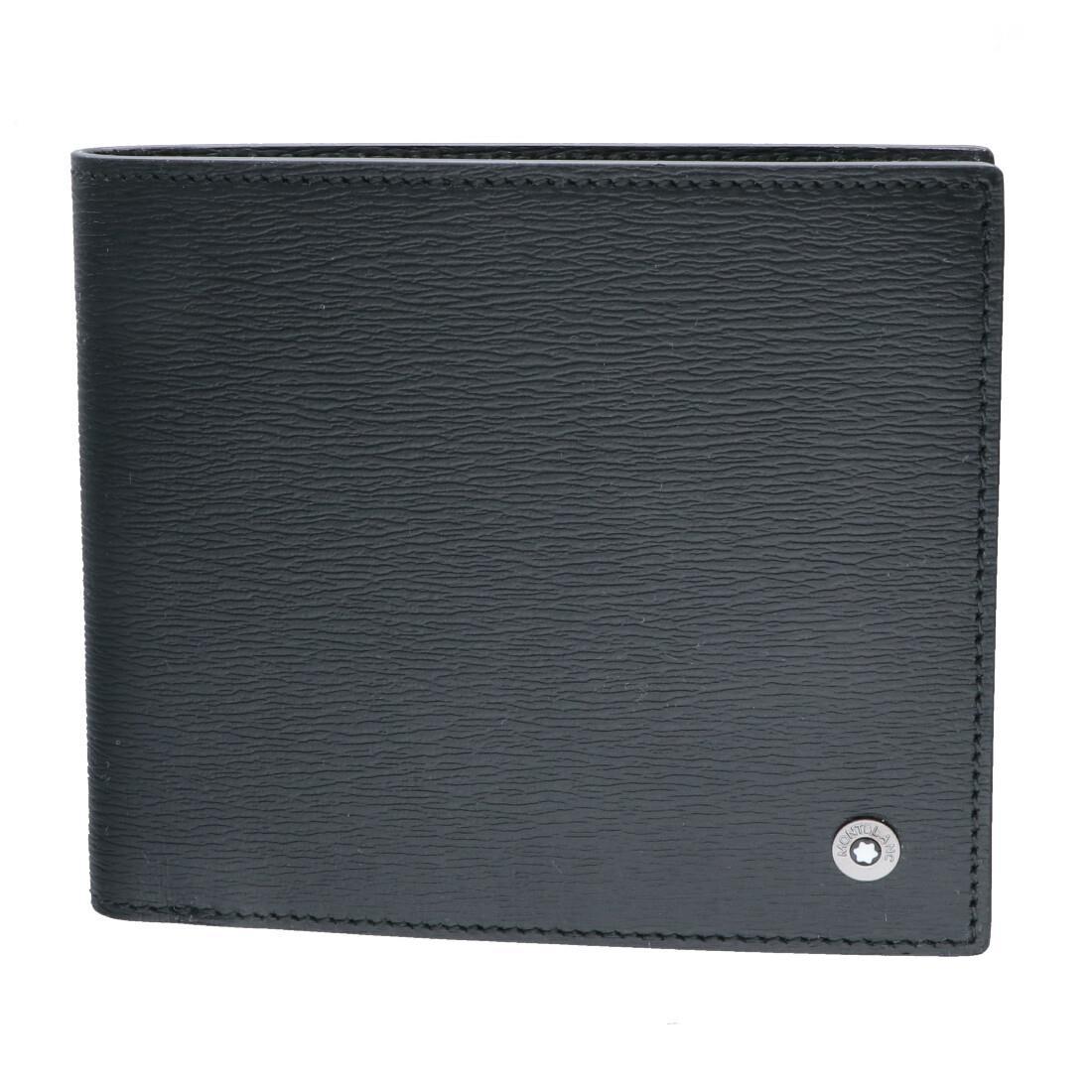 Portafoglio 4 scomparti con portamonette in pelle nera - MONTBLANC