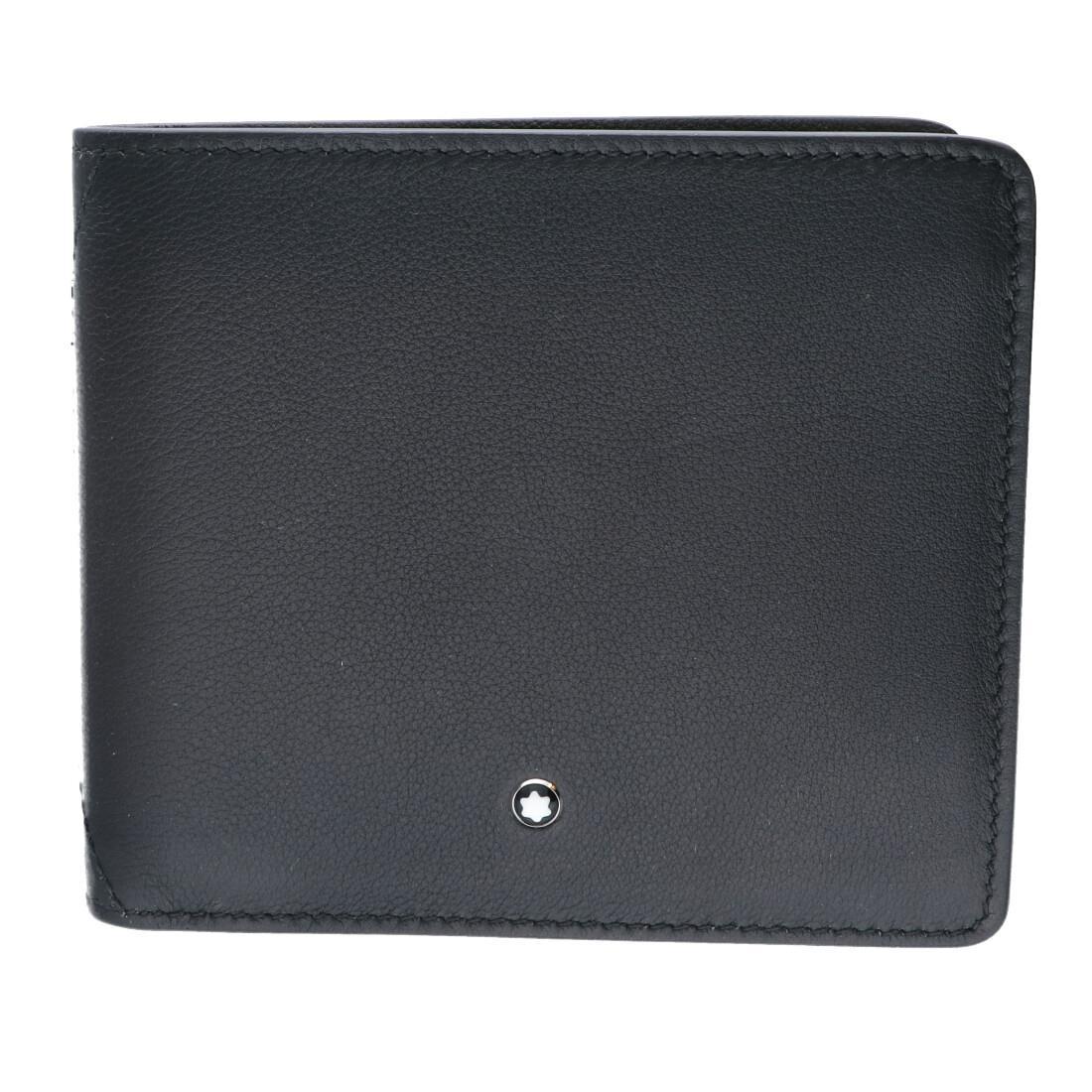 Portafoglio in pelle grigio, 4 fessure per carte di credito, 2 scomparti per banconote, scomparti per monete, 2 tasche supplementar - MONTBLANC