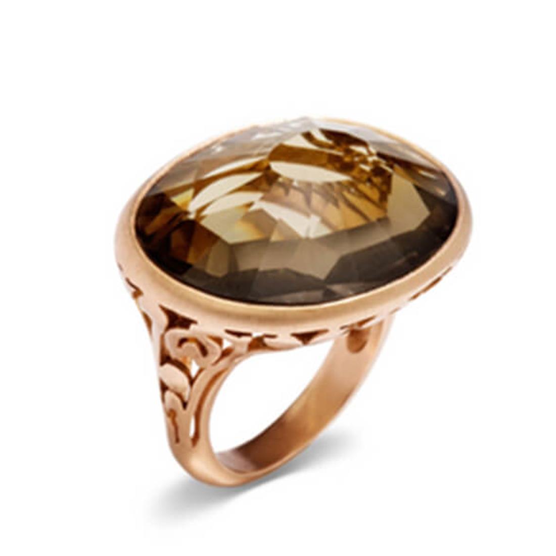 Anello in oro con quarzo fumè - POMELLATO