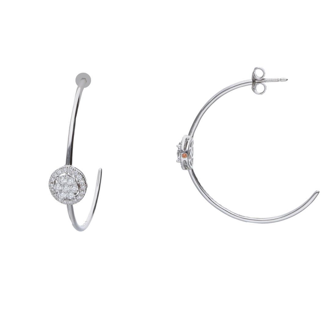 Orecchini a cerchio con diamanti  - ALFIERI & ST. JOHN