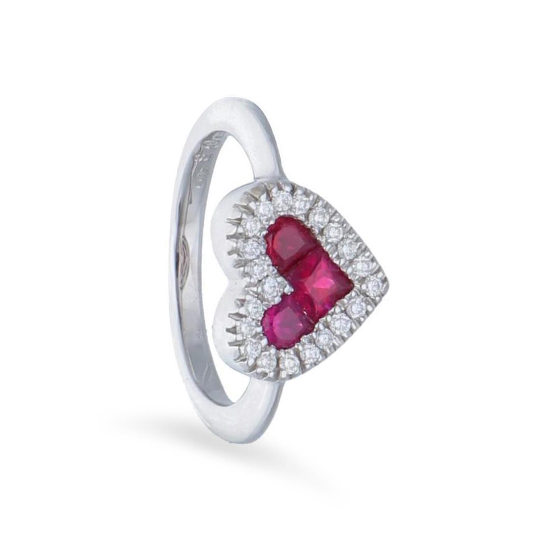 Anello con diamanti e rubino - ALFIERI & ST. JOHN