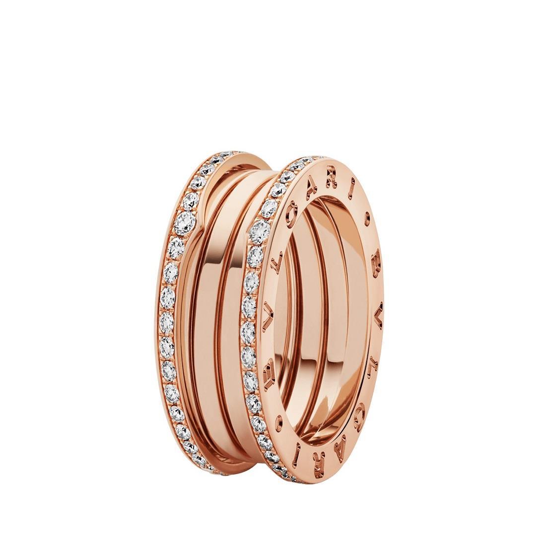 Anello a fascia con diamanti - BULGARI