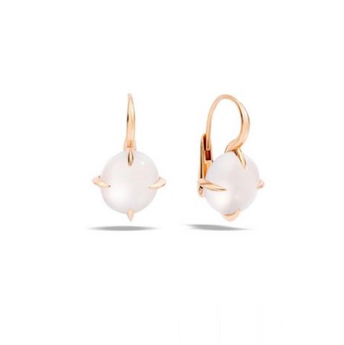 Earrings with white quartz - POMELLATO