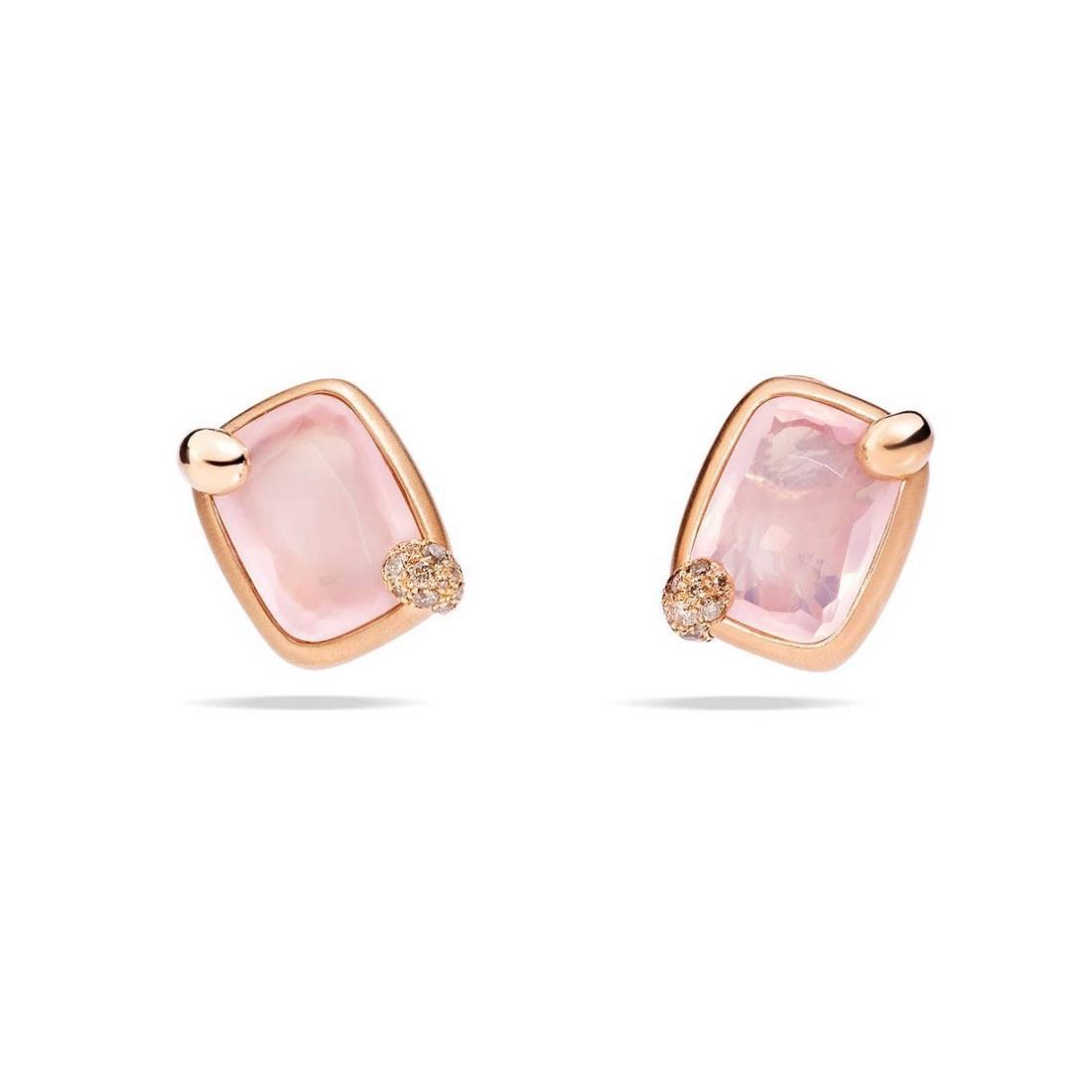 Orecchini con quarzo rosa - POMELLATO