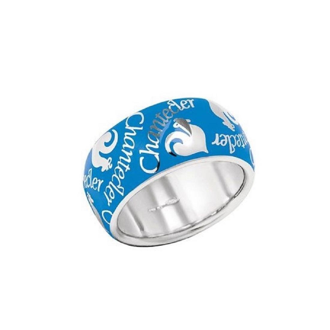 Anello Chantecler in argento con smalto azzurro - CHANTECLER