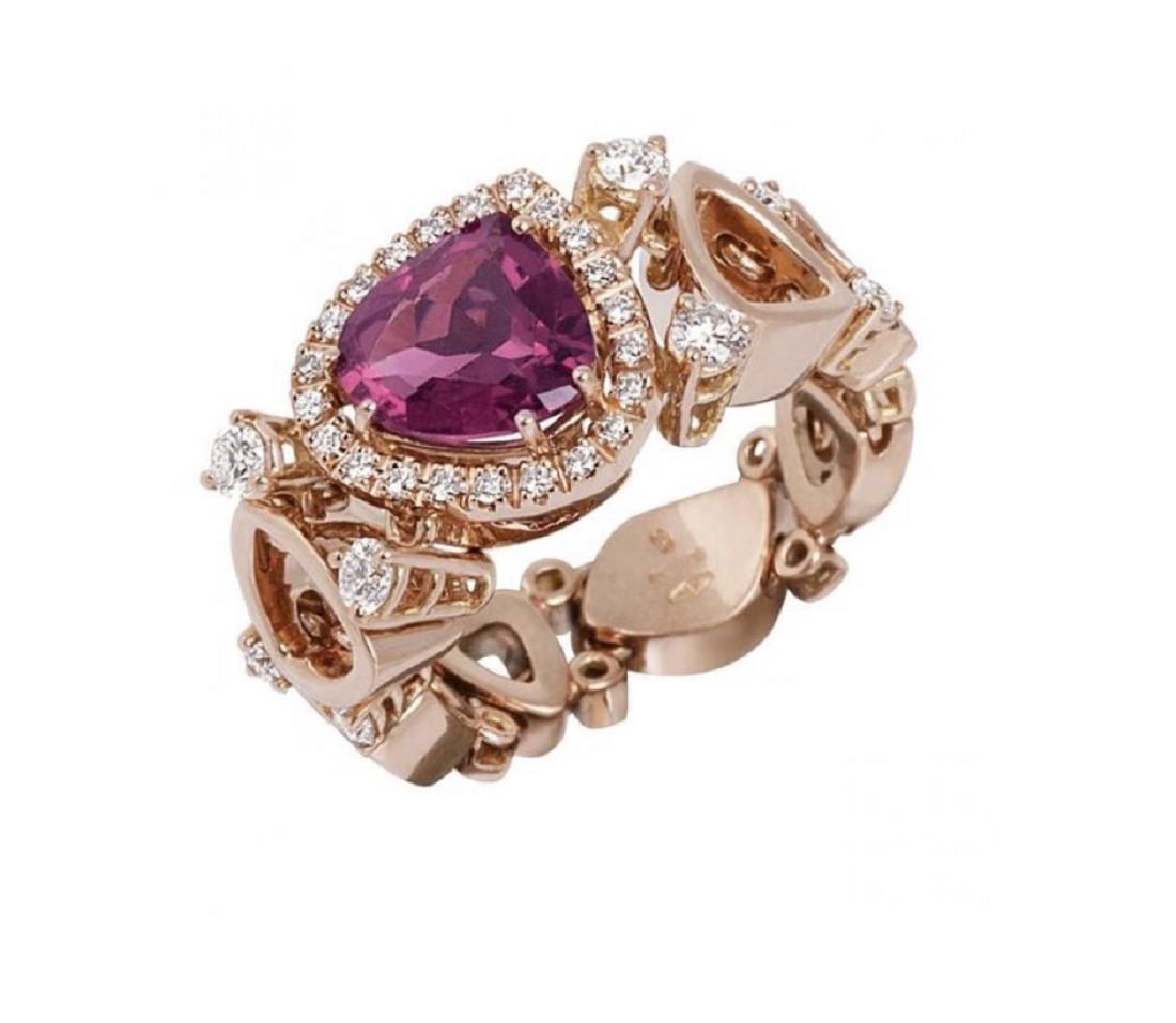 Anello Chantecler in oro rosa con diamanti - CHANTECLER
