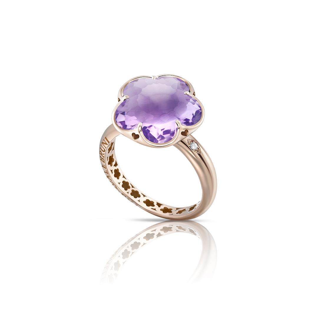 Ring with amethyst - PASQUALE BRUNI