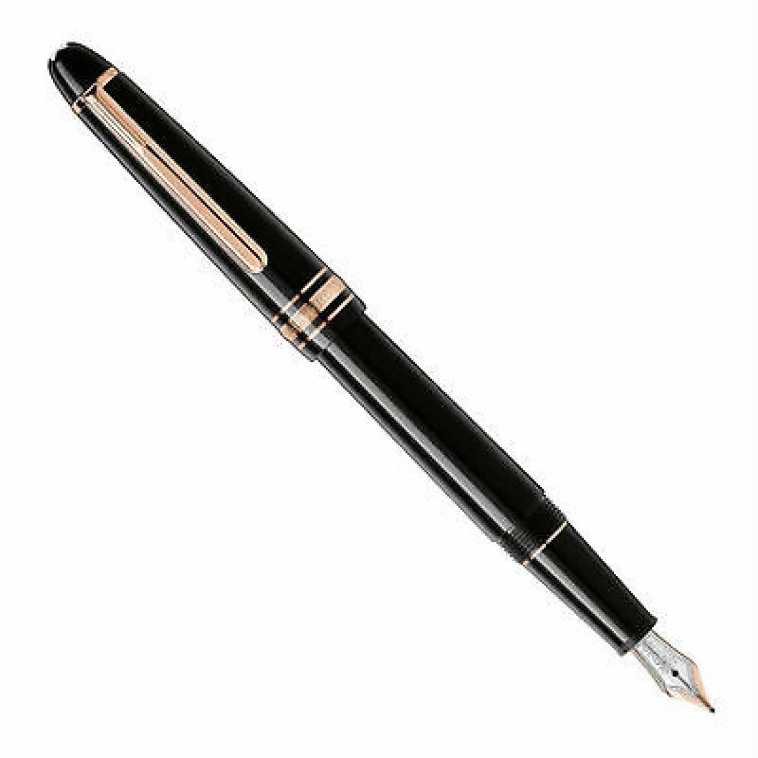 Penna Stilografica con pennino e finiture in oro rosso - MONTBLANC