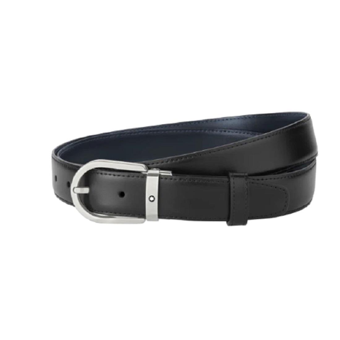 Cintura reversibile in pelle blu/nera - MONTBLANC