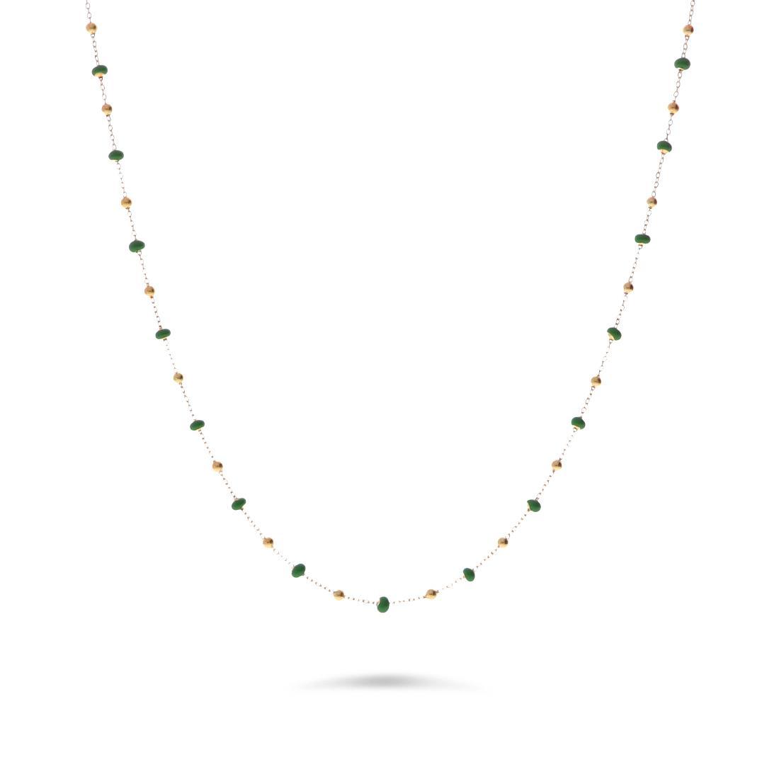 Collana con pietre verdi - ORO&CO