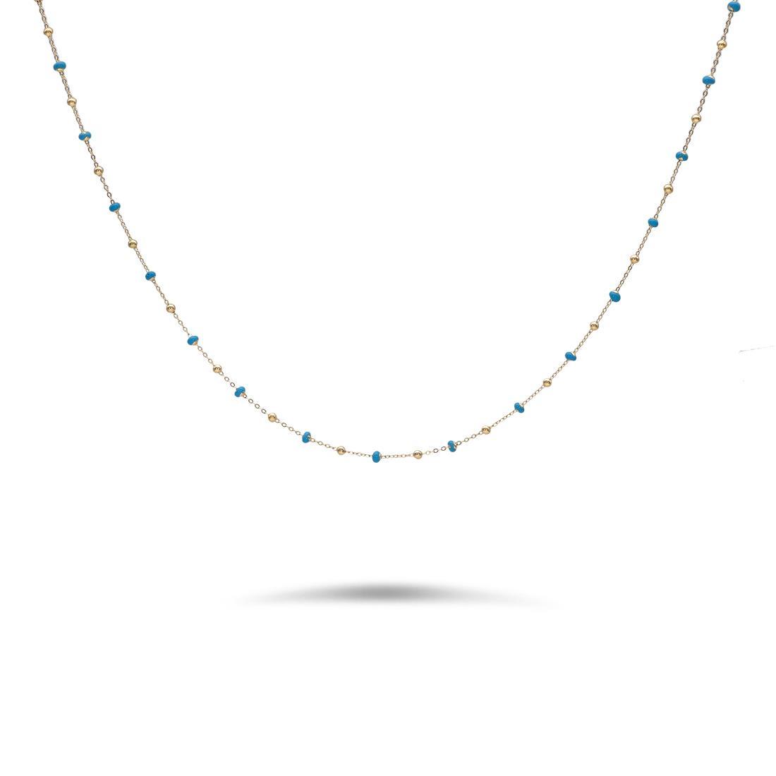 Collana con pietre blu - ORO&CO