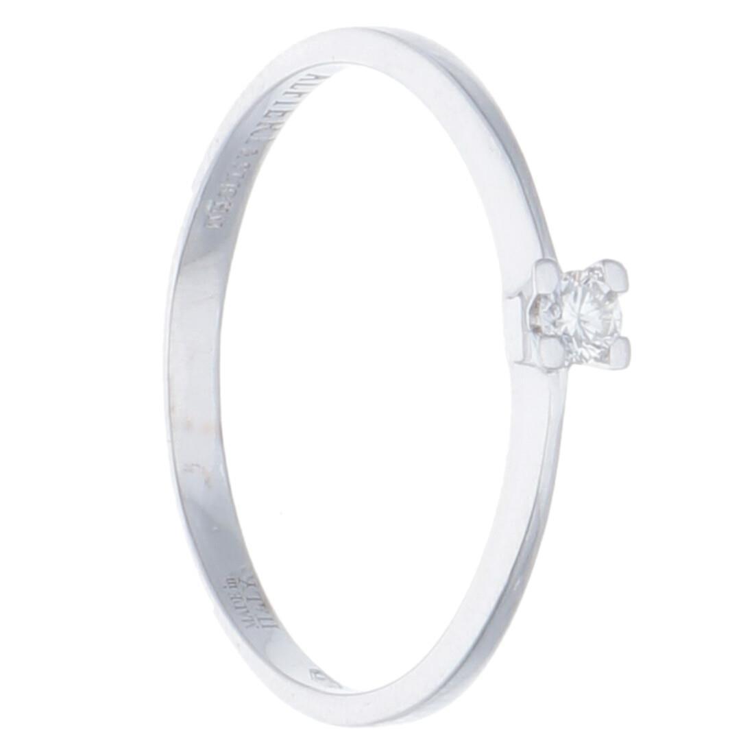 Anello solitario con diamanti ct 0,05 - ALFIERI & ST. JOHN