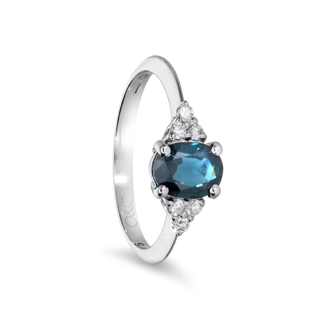 Anillo de zafiro y diamantes - ORO&CO