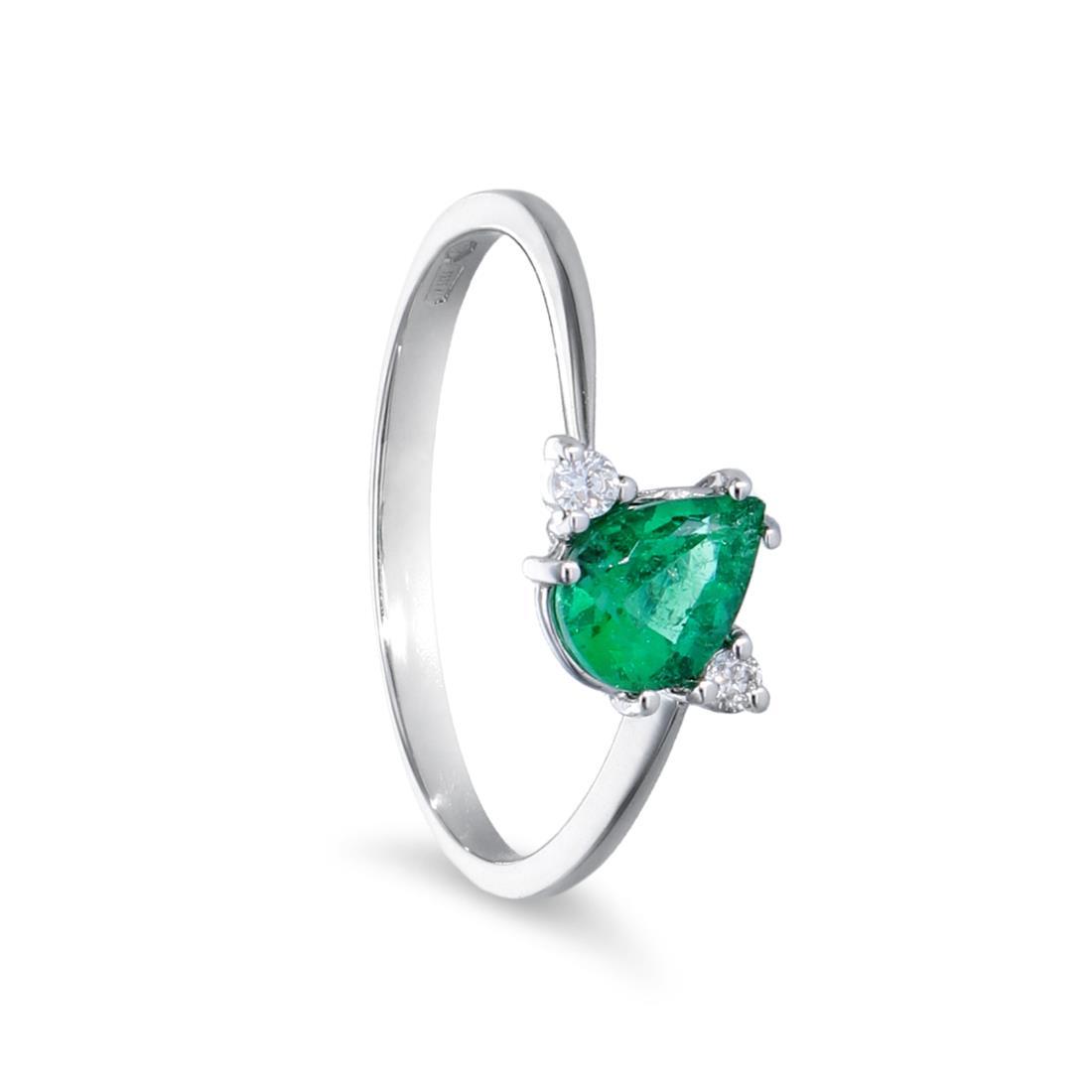 Emerald and diamond ring - ORO&CO
