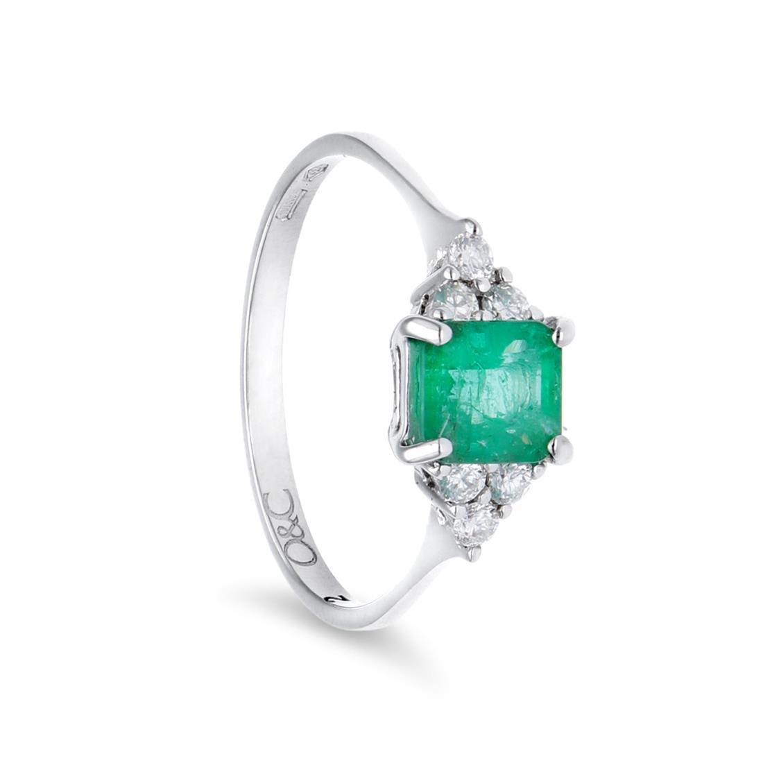 Anillo de esmeraldas y diamantes - ORO&CO
