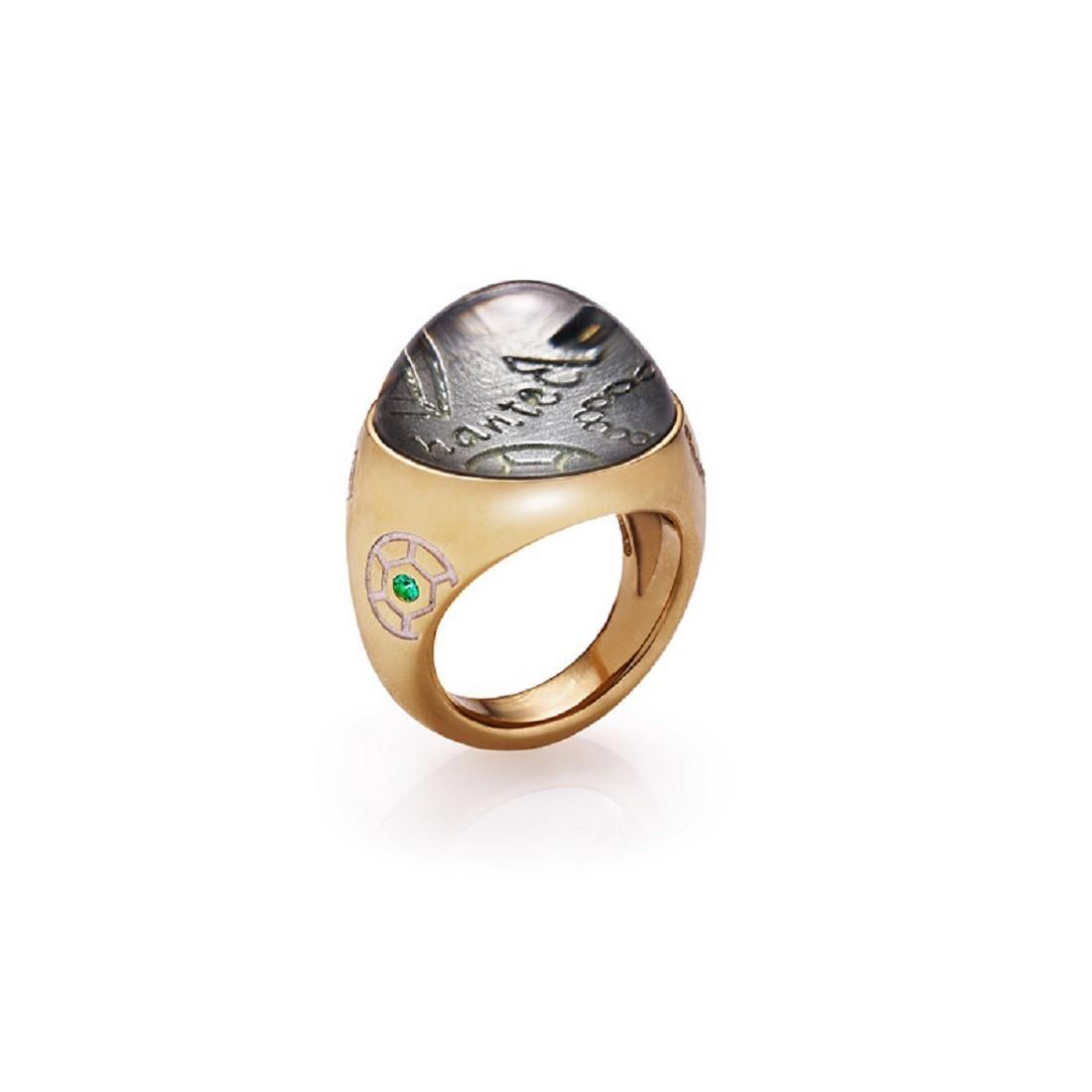 Anillo con diamantes y piedras preciosas - CHANTECLER