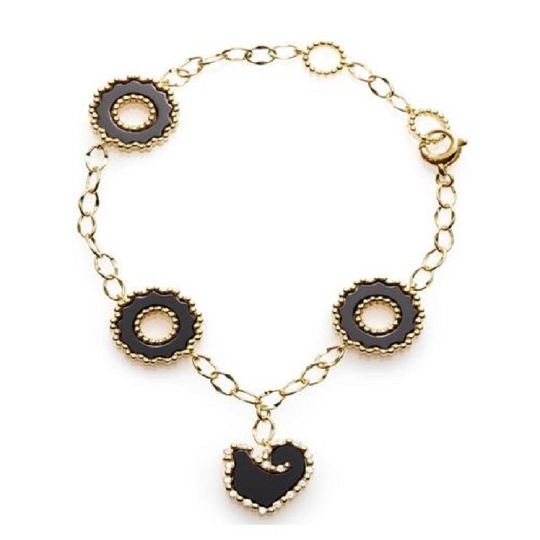 Bracelet with diamonds and onyx - CHANTECLER