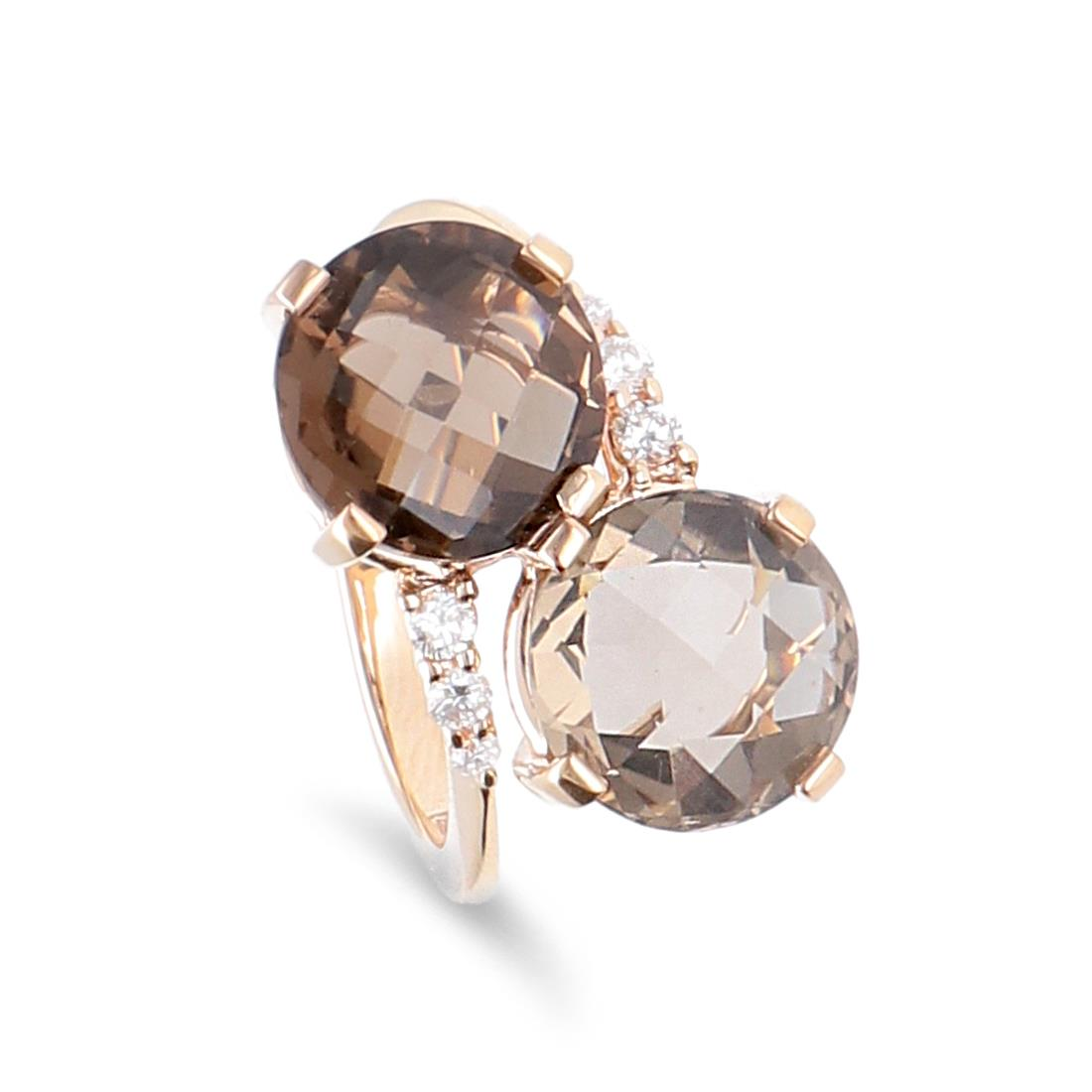 Anello con diamanti e quarzo fumè - ALFIERI & ST. JOHN