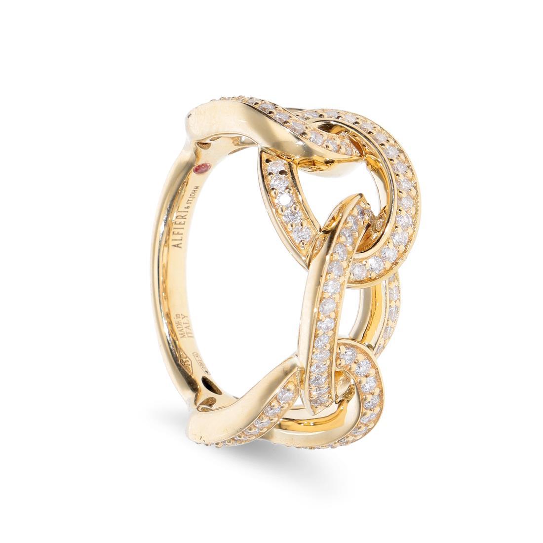 Anello catena con diamanti - ALFIERI & ST. JOHN