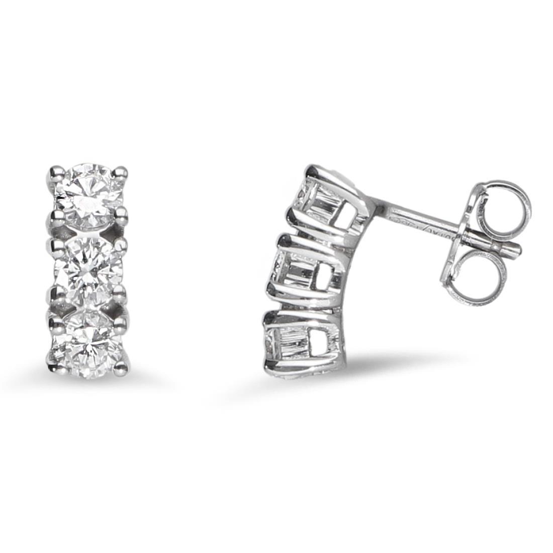 Orecchini trilogy con diamanti - ALFIERI & ST. JOHN