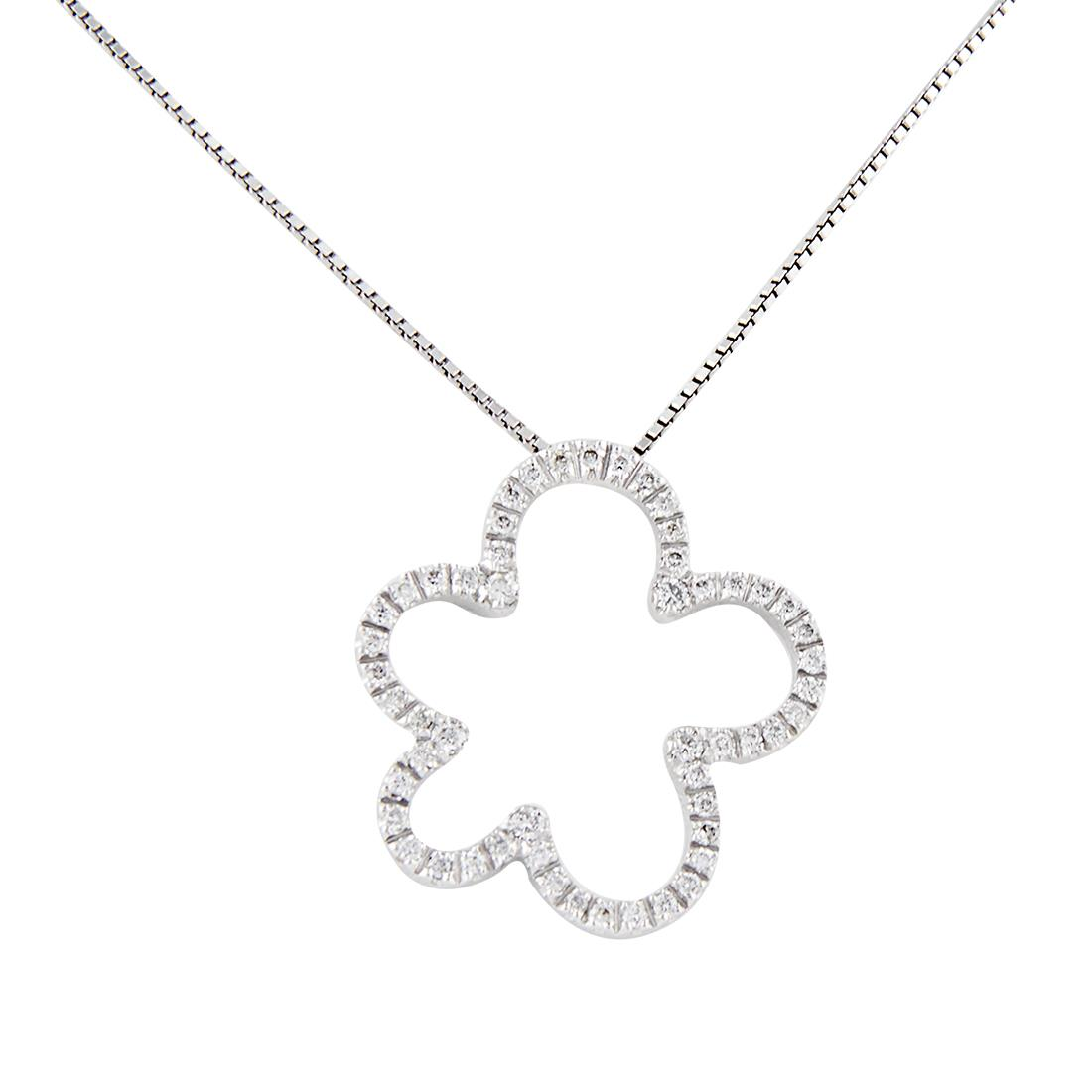 Oro&Co white gold necklace - ORO&CO