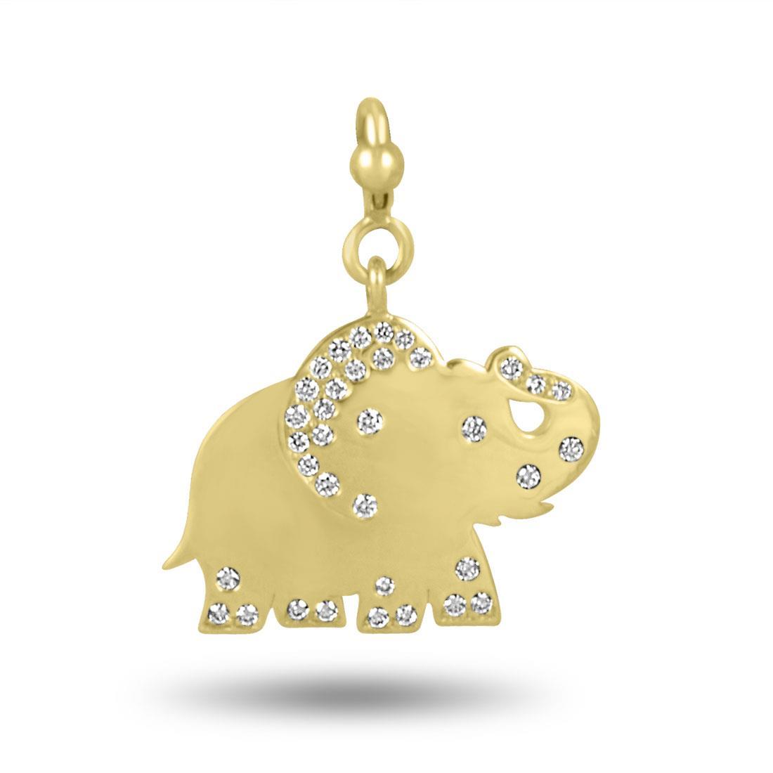 Ciondolo Pasquale Bruni in oro giallo con diamanti - PASQUALE BRUNI
