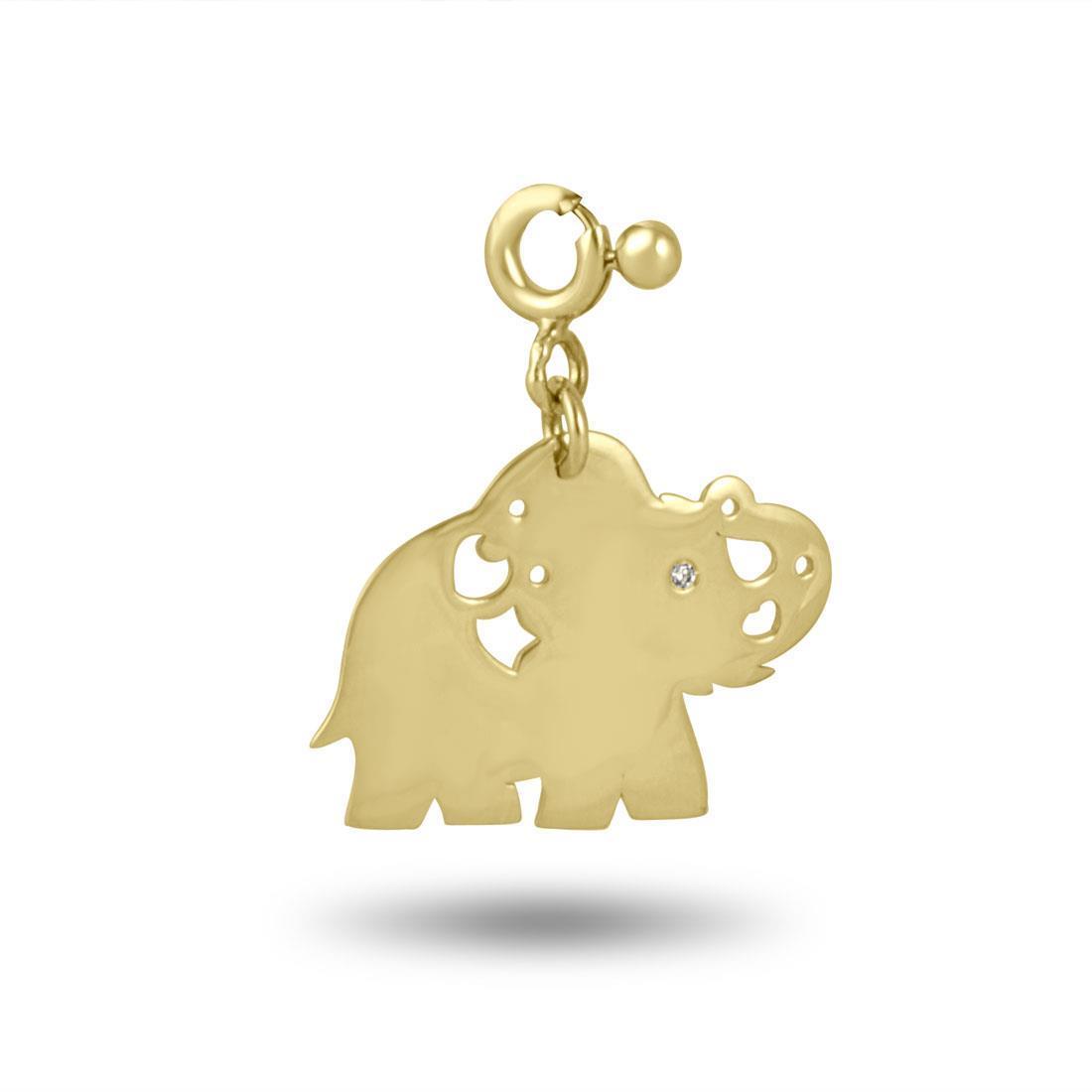 Ciondolo in oro giallo, design elefante - PASQUALE BRUNI