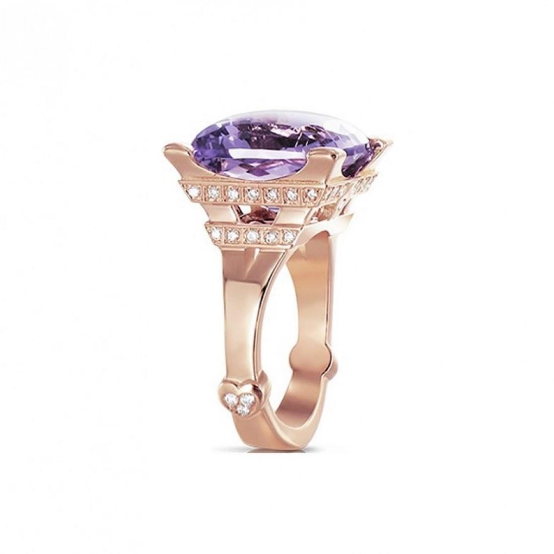 Anello con ametista e diamanti - PASQUALE BRUNI