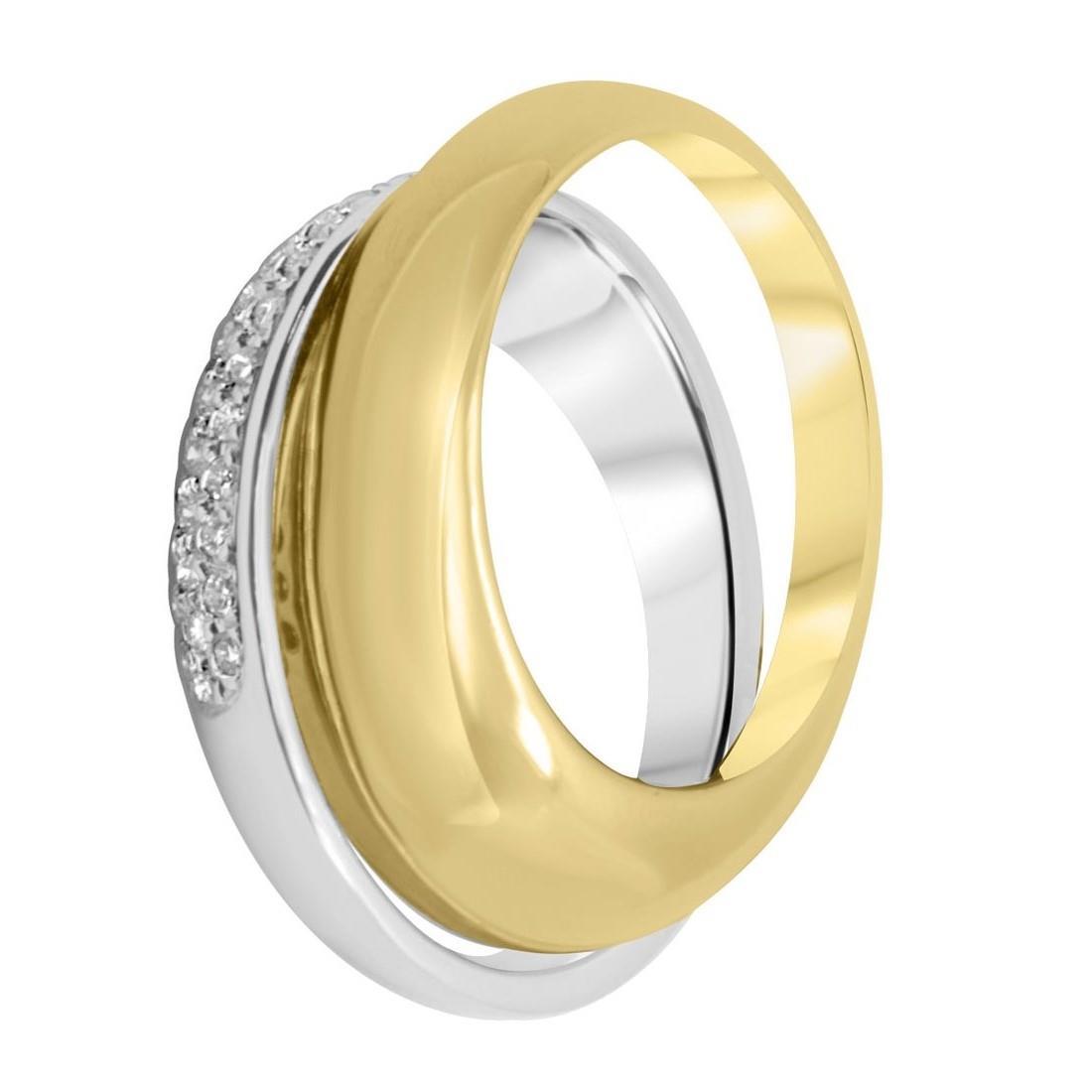 Anello Alfieri & St Joh in oro con diamanti ct 0,30 mis 14 - ALFIERI ST JOHN