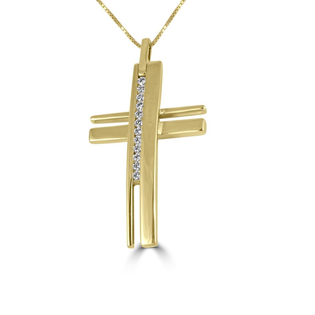 Acquista il collier Alfieri & St John in oro giallo con diamanti ct 0,49 colore H - ALFIERI ST JOHN