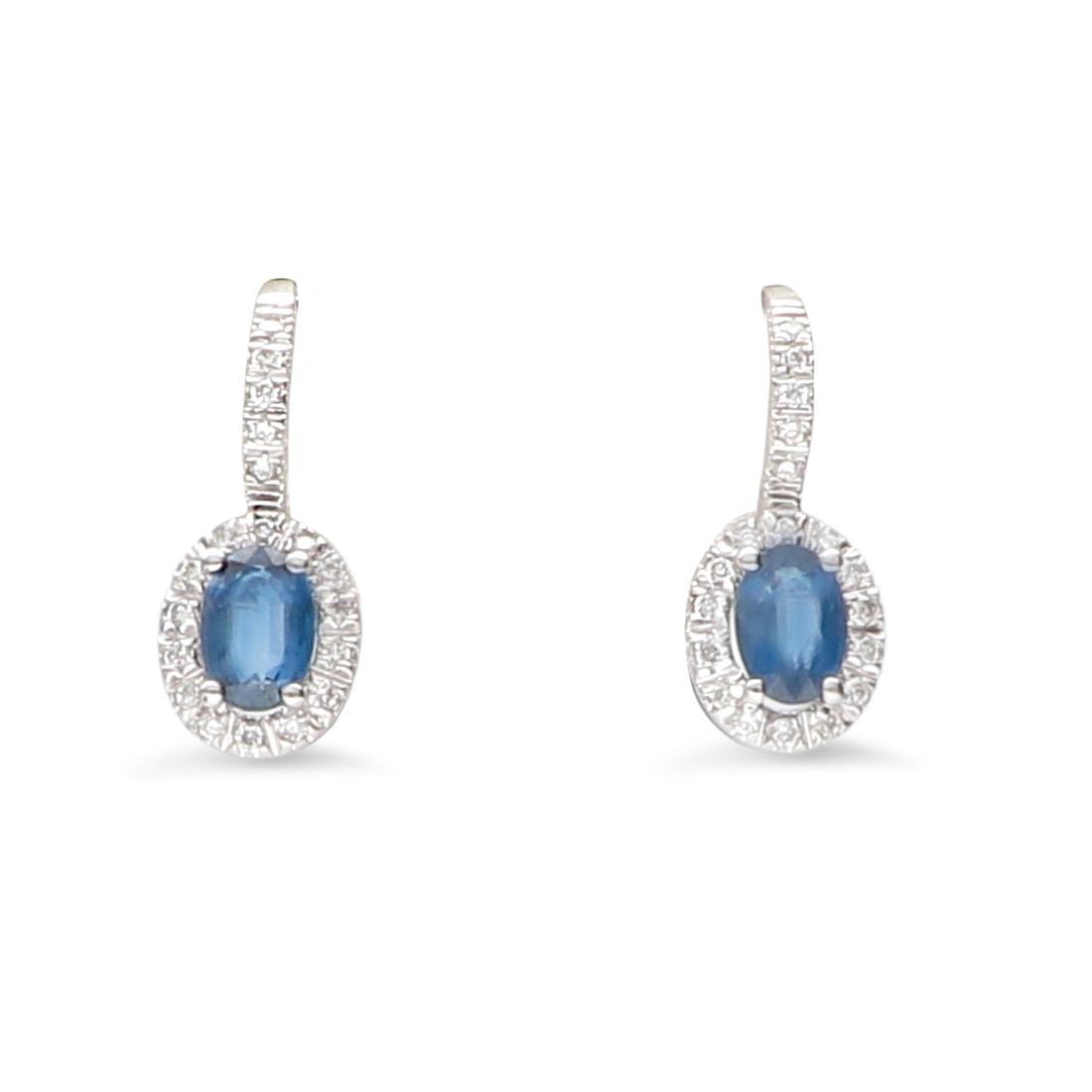 Orecchini con diamanti e zaffiri - ALFIERI & ST. JOHN