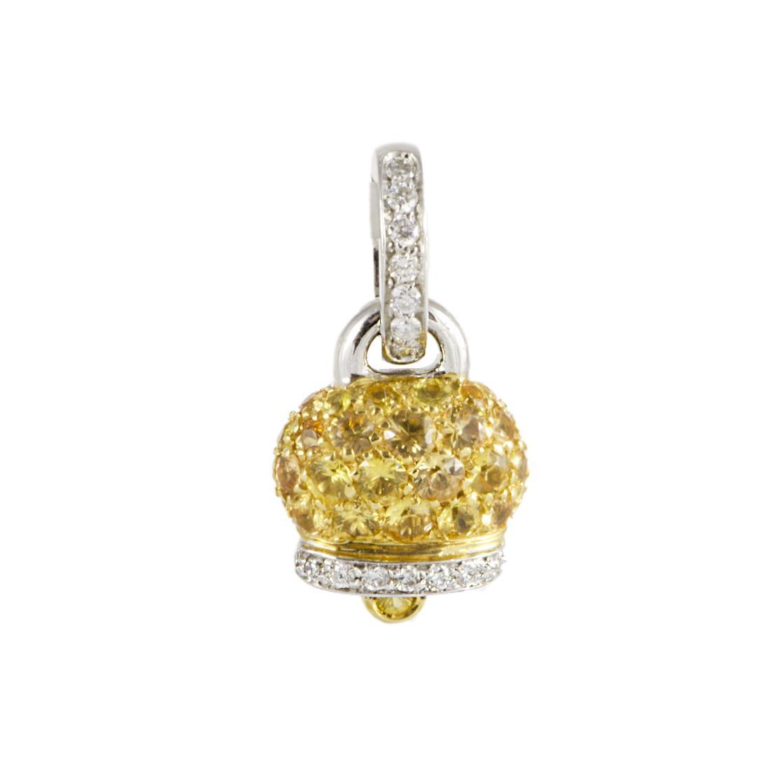 Pendente Chantecler in oro bianco con diamanti ct 0,12 - CHANTECLER