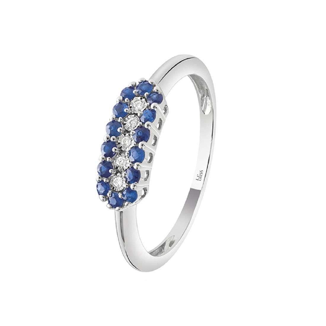 Anello con diamanti e zaffiri - BLISS